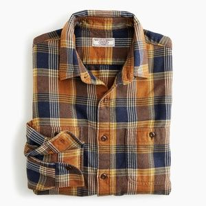 WALLACE & BARNES MIDWEIGHT FLANNEL SHIRT IN PLAID